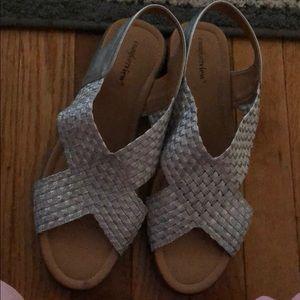 Comfortview Silver Dress Sandal 10W